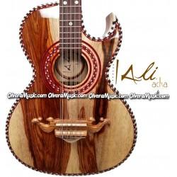 ALI ACHA Traditional Bajo Quinto Palo Escrito Wood
