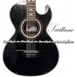 SEVILLANO Traditional Bajo Quinto Sapele Wood - Sparkle Black