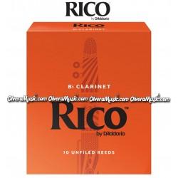 RICO Caña Bb p/Clarinete - Caja de 10