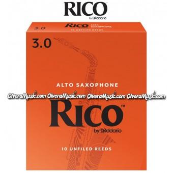 RICO Alto Saxophone Reeds - Box of 10