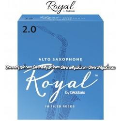RICO ROYAL Cañas p/Saxofón Alto - Caja de 10