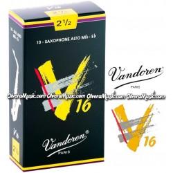 VANDOREN V16 Cañas p/Saxofón Alto - Caja de 10