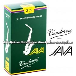 VANDOREN JAVA Cañas p/Saxofón Alto - Caja de 10