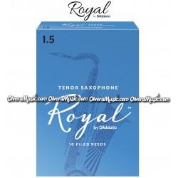 RICO ROYAL Cañas p/Saxofón Tenor - Caja de 10
