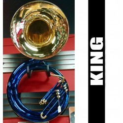 KING Cleveland Blue Metal Sousaphone (USED)