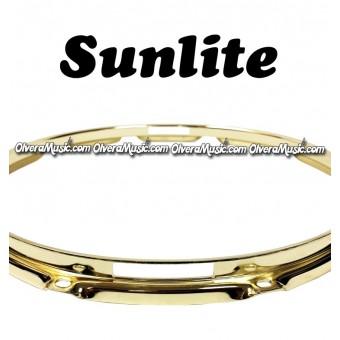 "SUNLITE 14"" Brass Plated Bottom Snare Hoop - 12 Lug"