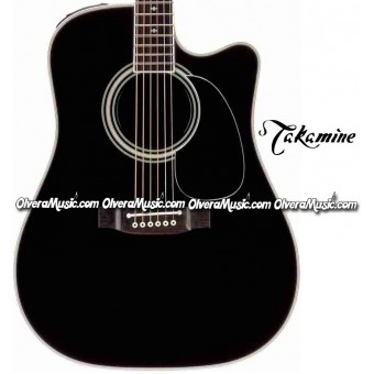 TAKAMINE Legacy Series Acoustic/Electric 6-String Guitar - Gloss Black