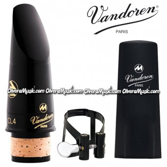 VANDOREN Masters CL4 Clarinet Mouthpiece Ligature & Cap - Masters CL4 M/O - Black