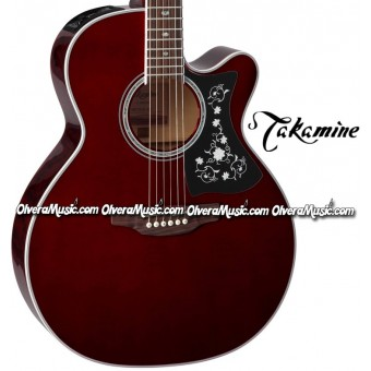 TAKAMINE NEX-Body Acoustic/Electric 6-String Guitar - Wine Red