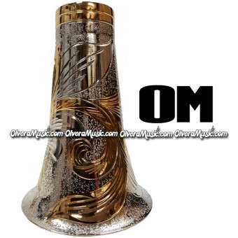 OM Clarinet Aluminum Bell Engraved - Combined 2-Tone