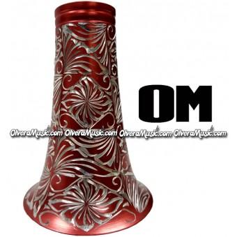 OM Aluminum Clarinet Bell w/Engraving - Orange