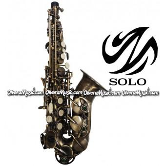 SOLO Saxofón Soprano Curvo Modelo Estudiante - Cobre Antiguo