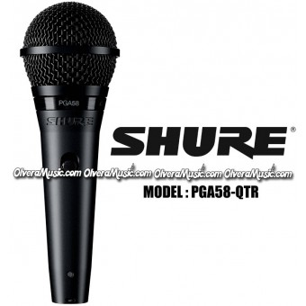 """SHURE Dynamic Vocal Microphone - XLR-1/4"""" Cable"""