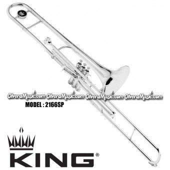 "KING ""3B"" Professional Bb Valve Trombone - Silver Plate Finish"