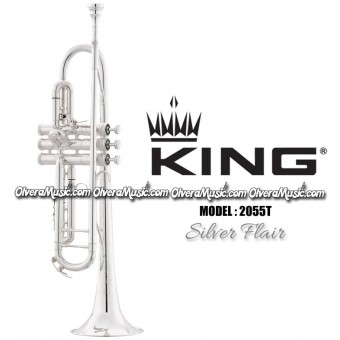 """KING """"Silver Flair"""" Intermediate Trumpet - Silver Plate Finish"""