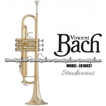 "BACH ""Stradivarius"" (Reverse) Professional Bb Trumpet - Lacquer Finish"