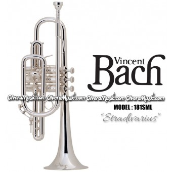 "BACH ""Stradivarius"" Professional Cornet - Silver Plate Finish"