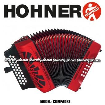 HOHNER Compadre Acordeon de Botones - Rojo