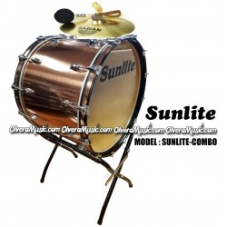 SUNLITE 18x24 Bass Drum Combo with Accessories