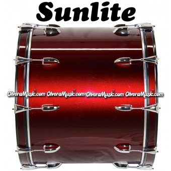 SUNLITE 18x24 Bass Drum - Wine Red