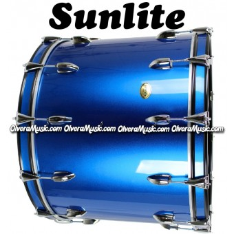 SUNLITE 18x24 Bass Drum - Metallic Blue
