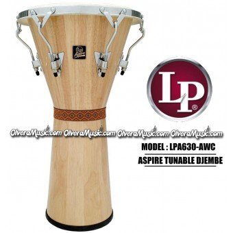 LP Aspire Djembe - Natural/Chrome