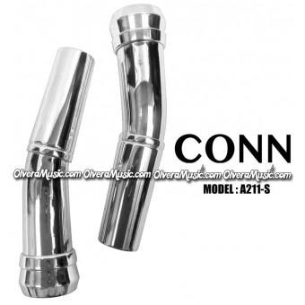 CONN Sousaphone/Tuba Bits (Set of 2) - Silver Plate Finish