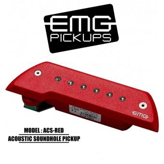 EMG Acoustic Active Soundhole Pick-Up System - Red