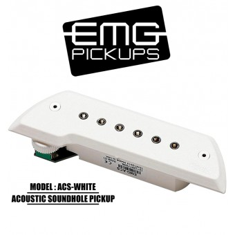 EMG Acoustic Active Soundhole Pick-Up System - White