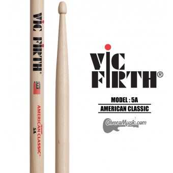 Vic Firth (5AW) American Classic Wood Tip Drumsticks
