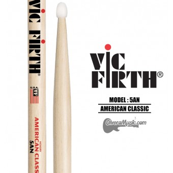 Vic Firth (5AN) American Classic Nylon Tip Drumsticks