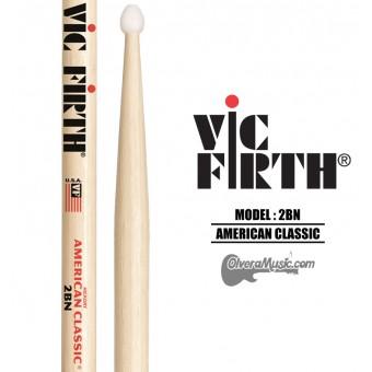 "Vic Firth (2BN) Baquetas Linea ""American Classic"" Punta de Nylon"