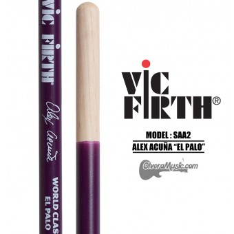 "Vic Firth (SAA2) World Classic Timbale Sticks Signature Series Alex Acuña ""El Palo"" - Salsa"