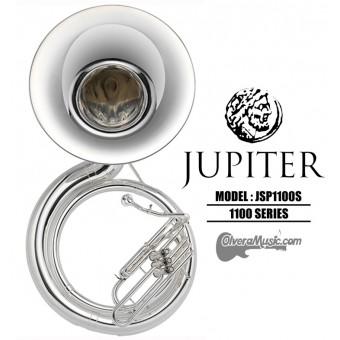 JUPITER Tuba de Metal Tono de Sibemol - Plateada