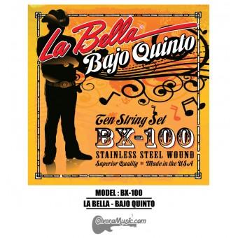 La Bella (BX-100) Cuerdas para Bajo Quinto