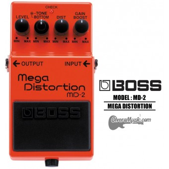 BOSS Mega Distortion Pedal de Efectos para Guitarra