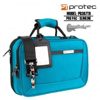 PROTEC Pro Pac Slimline Estuche p/Clarinete - Verde/Azul