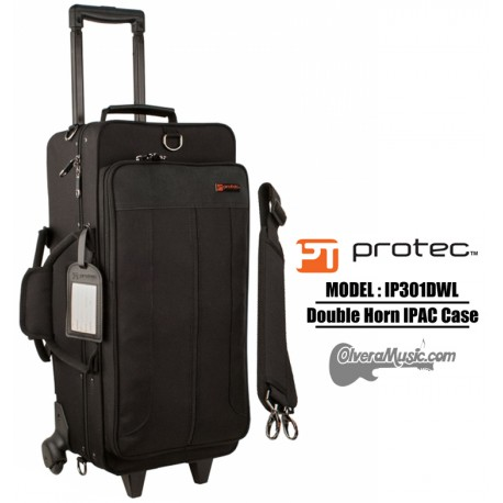 PROTEC iPac Double Trumpet Case w/Wheels