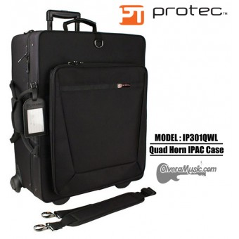 PROTEC iPac Quad Trumpet Case w/Wheels