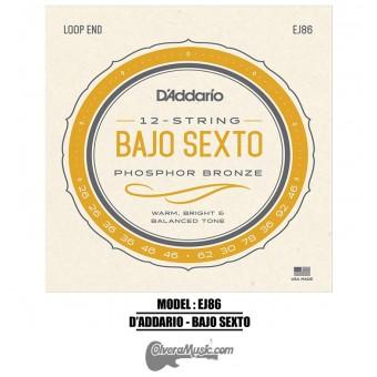 D'Addario (J86) Bajo Sexto Strings