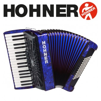 Hohner Bravo III 72 Blue Piano Accordion 5-Registers