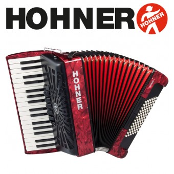 HOHNER Bravo III 72 Piano Accordion 5-Registers - Pearl Red