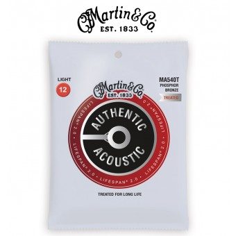 MARTIN Lifespan Treated Bronze Light Authentic Acoustic Guitar Strings