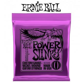 Ernie Ball (2220) Power Slinky Nickel Wound Electric Guitar Strings
