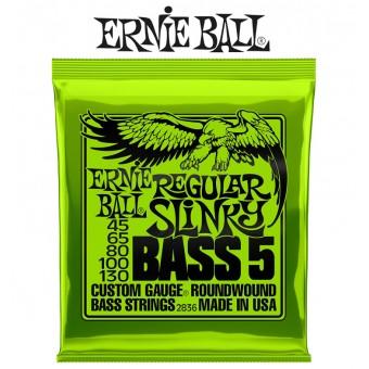 ERNIE BALL Regular Slinky 5-String Nickel Wound Electric Bass Strings