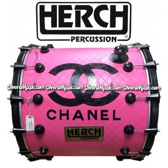 HERCH Bass Drum 22x24 Pink Channel 14-Lug