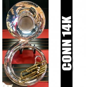 CONN 14K. Metal Sousaphone Silver-Plate Finish - REFURBISHED