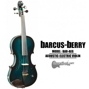 BARCUS-BERRY Vibrato AE Series Violin Outfit - Metallic Green Burst