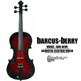 BARCUS-BERRY Vibrato AE Series Violin Outfit - Red Berry Burst