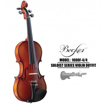 BECKER Soloist Series Rich Red Brown 4/4 Violin Outfit
